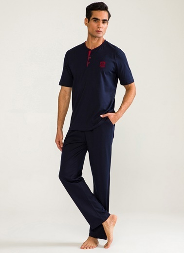 D'S Damat Pijama Takım Lacivert
